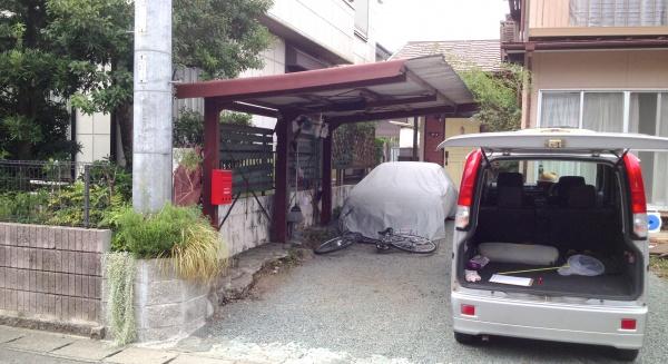 リニューアル前の車庫